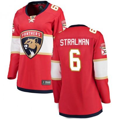 Women's Breakaway Florida Panthers Anton Stralman Fanatics Branded Home Jersey - Red