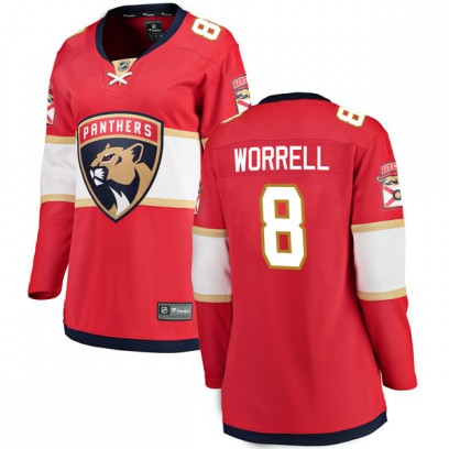 Women's Breakaway Florida Panthers Peter Worrell Fanatics Branded Home Jersey - Red