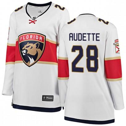 Women's Breakaway Florida Panthers Donald Audette Fanatics Branded Away Jersey - White