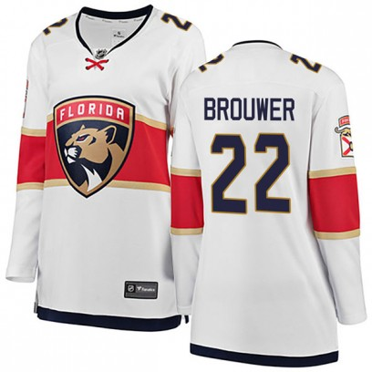 Women's Breakaway Florida Panthers Troy Brouwer Fanatics Branded Away Jersey - White