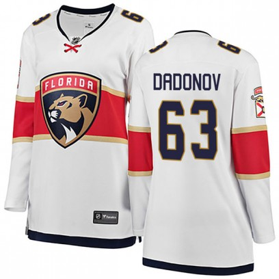 Women's Breakaway Florida Panthers Evgenii Dadonov Fanatics Branded Away Jersey - White