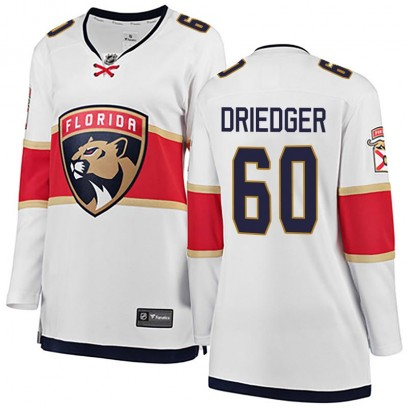Women's Breakaway Florida Panthers Chris Driedger Fanatics Branded Away Jersey - White