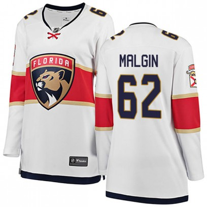 Women's Breakaway Florida Panthers Denis Malgin Fanatics Branded Away Jersey - White