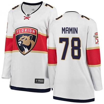 Women's Breakaway Florida Panthers Maxim Mamin Fanatics Branded Away Jersey - White