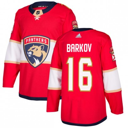 Men's Authentic Florida Panthers Aleksander Barkov Adidas Jersey - Red