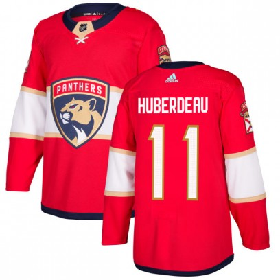 Men's Authentic Florida Panthers Jonathan Huberdeau Adidas Jersey - Red
