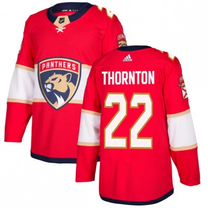Men's Authentic Florida Panthers Shawn Thornton Adidas Jersey - Red