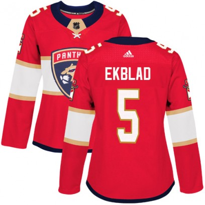 Women's Authentic Florida Panthers Aaron Ekblad Adidas Home Jersey - Red