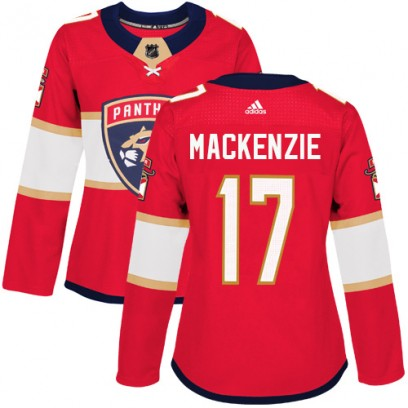 Women's Authentic Florida Panthers Derek Mackenzie Adidas Derek MacKenzie Home Jersey - Red