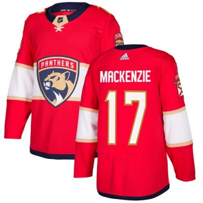 Youth Authentic Florida Panthers Derek Mackenzie Adidas Derek MacKenzie Home Jersey - Red