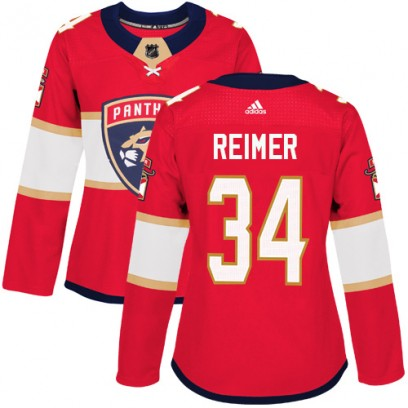 Women's Authentic Florida Panthers James Reimer Adidas Home Jersey - Red