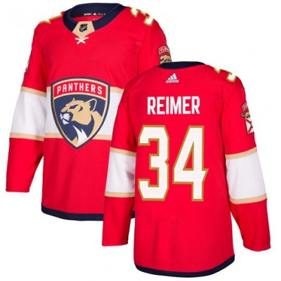 Youth Authentic Florida Panthers James Reimer Adidas Home Jersey - Red