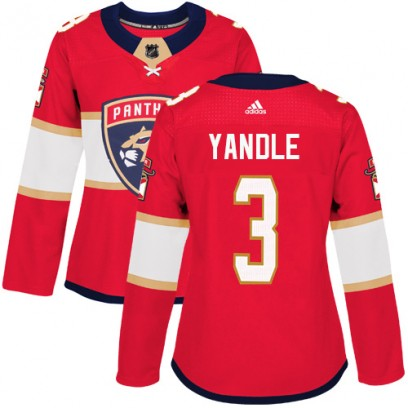 Women's Authentic Florida Panthers Keith Yandle Adidas Home Jersey - Red
