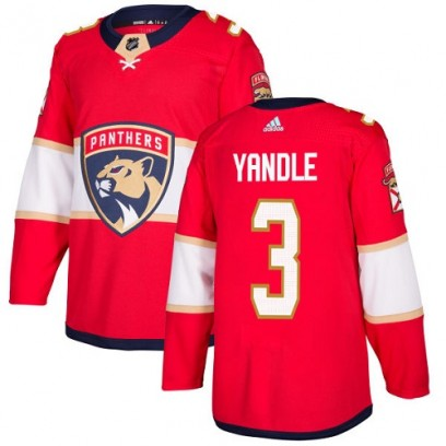 Youth Authentic Florida Panthers Keith Yandle Adidas Home Jersey - Red