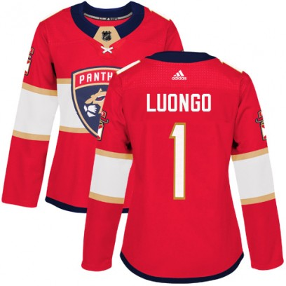 Women's Authentic Florida Panthers Roberto Luongo Adidas Home Jersey - Red