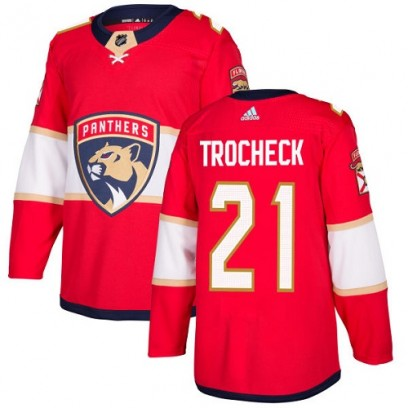 Youth Authentic Florida Panthers Vincent Trocheck Adidas Home Jersey - Red