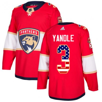 Men's Authentic Florida Panthers Keith Yandle Adidas USA Flag Fashion Jersey - Red